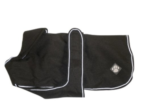 Danish Design Waterproof Dog Coat, 16-inch, Ebony
