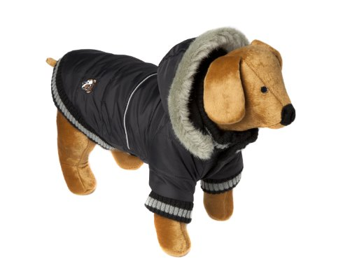 Doggy Things Dandy Parka, XL, Black