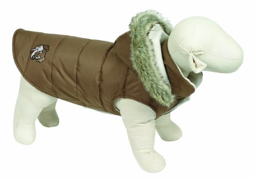 Doggy Things Puffa Jacket, L, Brown