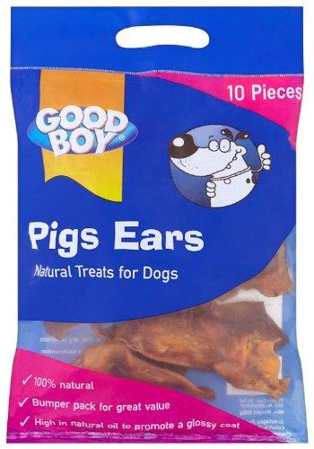 Good Boy Pigs Ears Dog Treats (10 pieces)