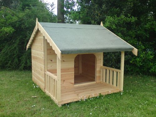 Luxury Dog Kennel Summerhouse with Veranda New Model Design for 2013 Suitable for 2 Dogs