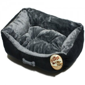 Me & My Black & Grey Small Super Soft Dog Bed