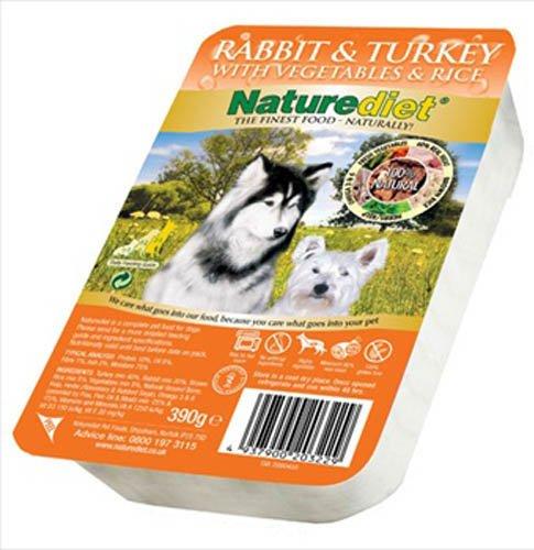 Naturediet Rabbit and Turkey 390 g (Pack of 18)