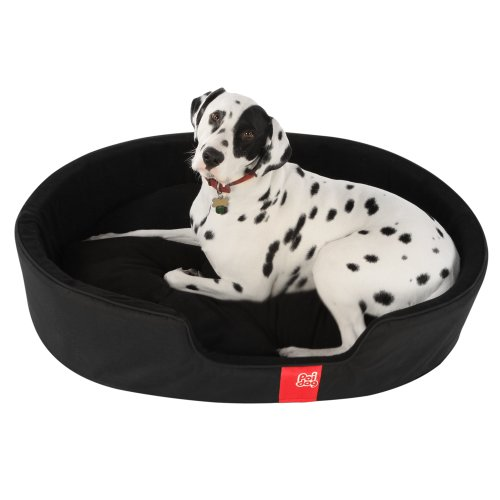 Poi Dog® Luxury Oval Dog Bed LARGE - Nest Black Dog Beds (41