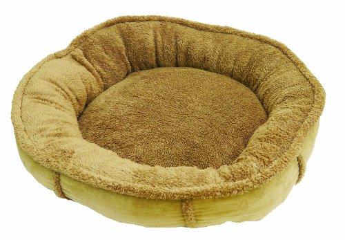 Rosewood Tan Plush Wrap Around Dog Bed