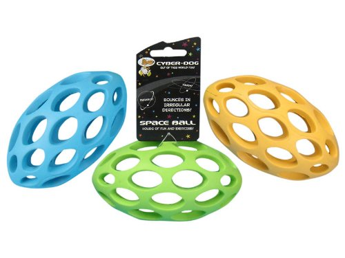 Cyber-Dog Dog Toy Ball Rugby Rubber Lattice 15cm