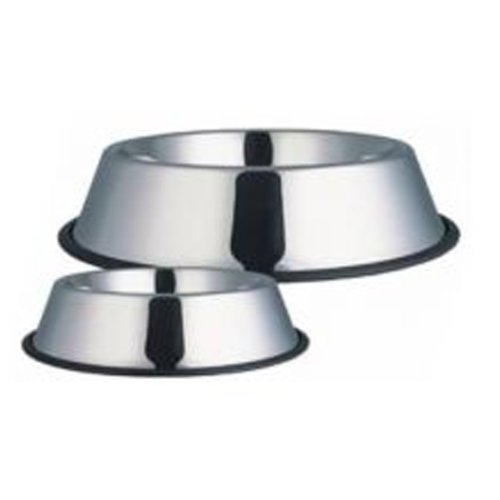 Fed 'N' Watered Non Slip Stainless Steel Non Tip Dog Bowl (Size: EXTRA LARGE - 25cm)