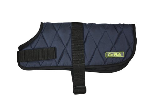 Go Walk Quilted Dog Coat, Large, Navy