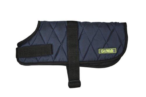 Go Walk Quilted Dog Coat, Medium, Navy