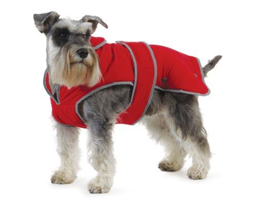 Muddy Paws Stormguard & Fleece Lining Coat Red Medium
