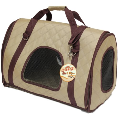 Me & My Beige Quilted Pet Carrier Pod