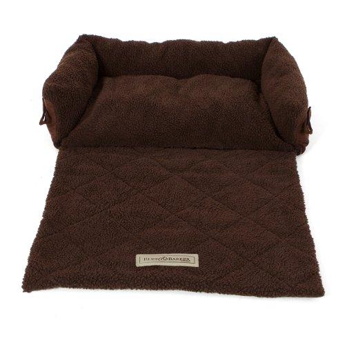 Ruff & Barker® Sofa Saver Dog Bed - Sofa Dog Beds BROWN - MEDIUM Dog Beds 70cm x 45cm x 18cm