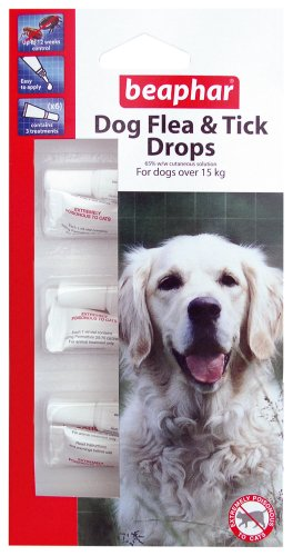 BEAPHAR LARGE DOG FLEA & TICK DROPS TREATMENT 12 WEEKS PROTECTION
