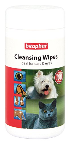Beaphar Cat & Dog Cleansing Wipes Ideal For Ears And Eyes, 100 Hygienic Wipes