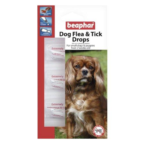 Beaphar Flea 12 Week Drops Spot On for Small Dogs Puppies Killing Fleas & Ticks