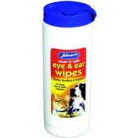 Dog Eye & Ear Wipes Large - Johnsons (TP)(JCSEEW)