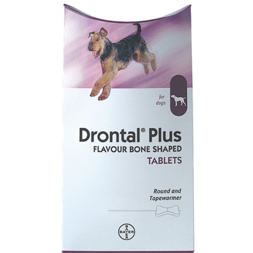 Drontal Plus for Dogs Bone Shaped Worming Tablet Packs (Pack Size: 6 Tablets)