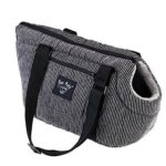 Pet Carrier Size Small Divani Black and Grey dog or cat