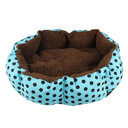 Bocideal(TM) New Style Soft Fleece Pet Dog Puppy Cat Warm Bed House Plush Cozy Nest Mat Pad (Blue)