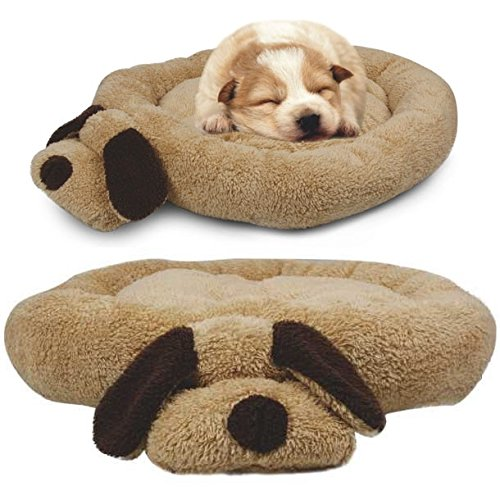 Me & My Head & Tail Luxury Soft Fleece Pet Bed - Brown/Beige