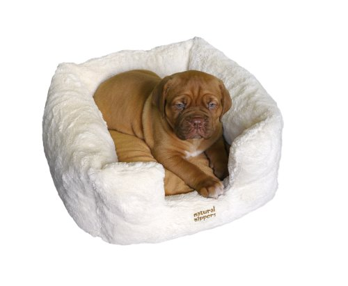 Rosewood Natural Nippers Luxury Puppy Bed, 16-inch