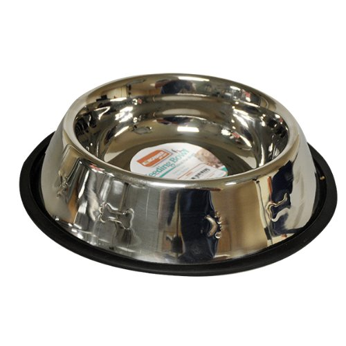 25cm Stainless Steel Non Slip Dog Bowl