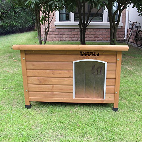 Kennels Imperial Medium Insulated Wooden Norfolk Dog Kennel With Removable Floor For Easy Cleaning A