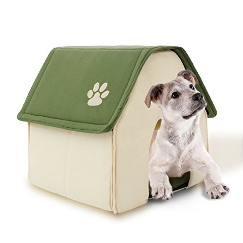 PAWZ Road Dog House For Medium and Small Pets Color Green& Red Roof