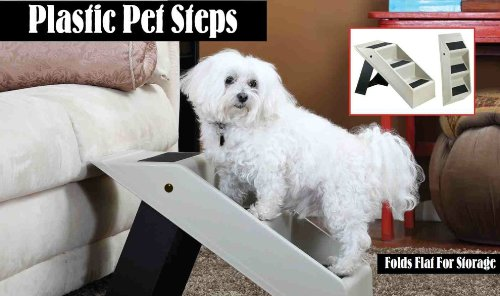 Carol Wright Gifts Portable Folding Plastic Pet Steps