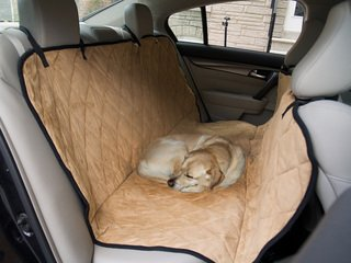 Dog Travel Hammock & Back Seat Cover - Protect Your Car, Truck or SUV From Dirt, Hair or Dander With This Durable Super Soft Heavy Gauge Waterproof Fabric - Perfect for Large & Small Pets. Also Protects Your Furniture, Couches & Sofas - 50 1/2