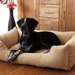 Knuffelwuff Dreamline - Dog Bed in Sizes: L - XXXL in Brown, Beige or Black