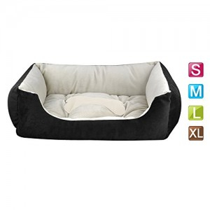 Outdoortips Oval Soft Faux Pet Bed Dog Puppy Basket Comfort Home Bed Waterproof Warm Sofa Cushion S & M & L & XL in Black & Coffee
