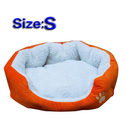Sodial R Waterproof Super Warm Soft Fleece Puppy Pets Dog Cat Bed House Basket Nest Mat Orange