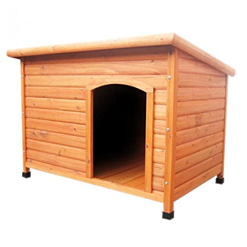 Oypla Wooden Outdoor L/XL Large Dog Kennel House Animal Shelter