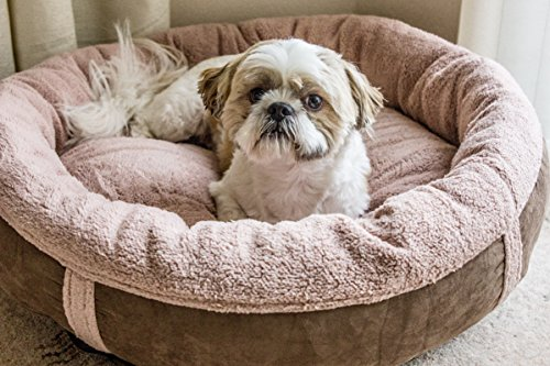 Wolfybeds Luxury Wraparound Fleece Dog Bed Size Medium