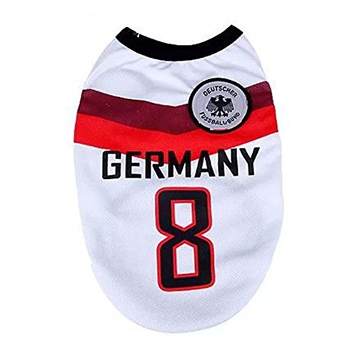 Outaking Worldcup Pet Clothes Dog Vest Big/small Dog Football Jersey 8 colors 10 sizes
