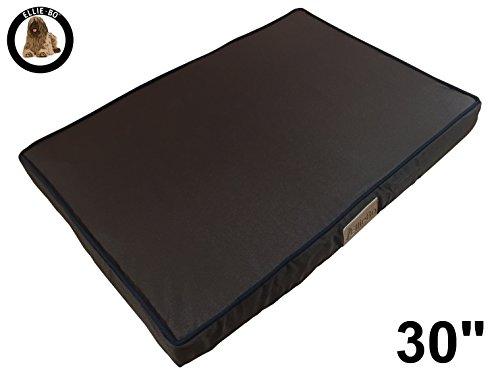 Ellie-Bo Waterproof Memory Foam Orthopaedic Dog Bed for Cage/Crate, Medium, 71 x 48 x 6 cm, 30-Inch, Brown