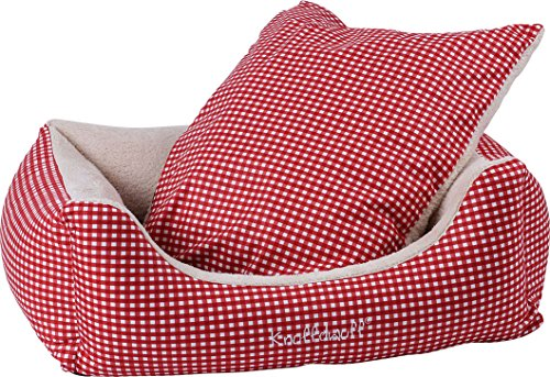 Knuffelwuff Cosy Dog Bed Lina Size M to XXXL Red