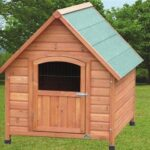 Fantastic Quality, Weather Treated Apex Wooden Dog Kennel with Door