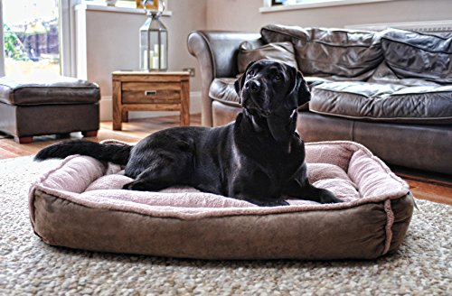 Luxury Fleece Cradle Dog Bed