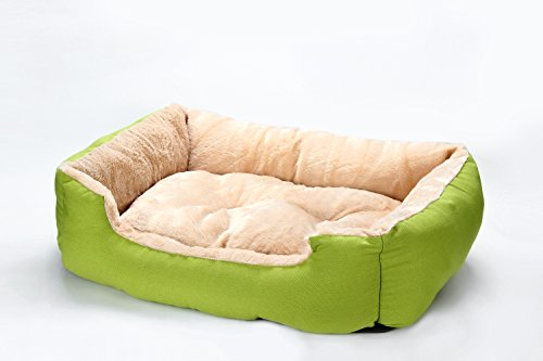STAT HOME Soft Washable Dog Pet Warm Basket Bed Cushion with Fleece Lining