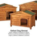 The Hutch Company Oxford Wooden Dog Kennel (Medium) L 113cm x W 72cm x H 86cm