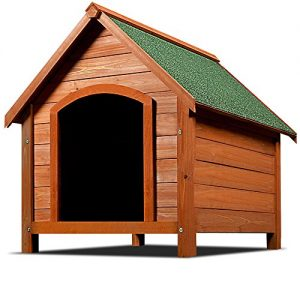 Wooden Dog Kennel Pen Garden Dog Pet Animal Houses Weatherproof Opening Roof